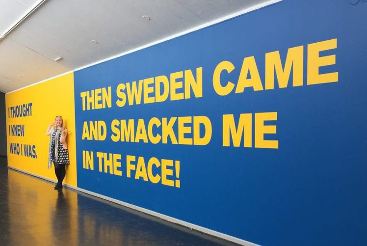 """I was in an art gallery in Lund and this wall caught my eye and summed me up perfectly!"""