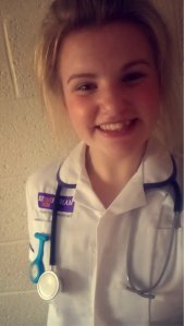 Midwifery student Alice.