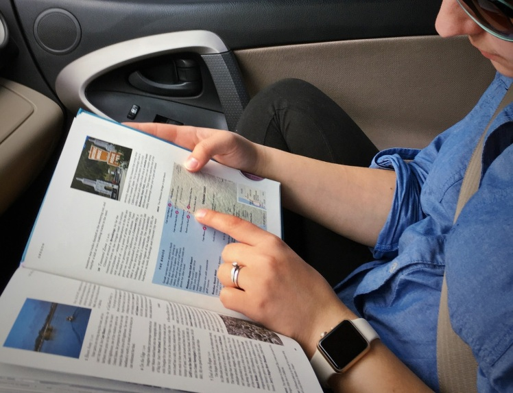 Reading travel guide